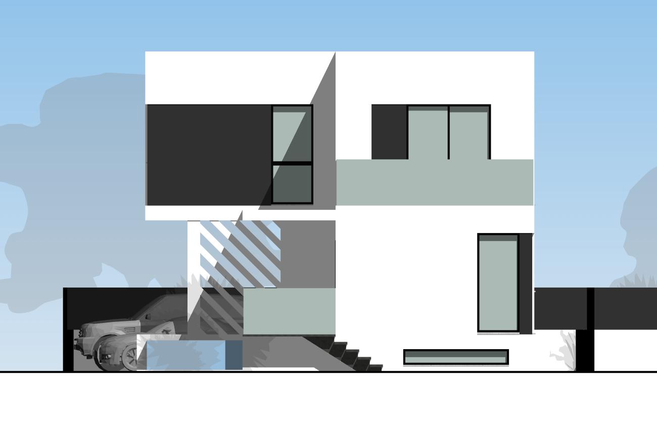 000 – Sección – -Viv 01_Alzado Este