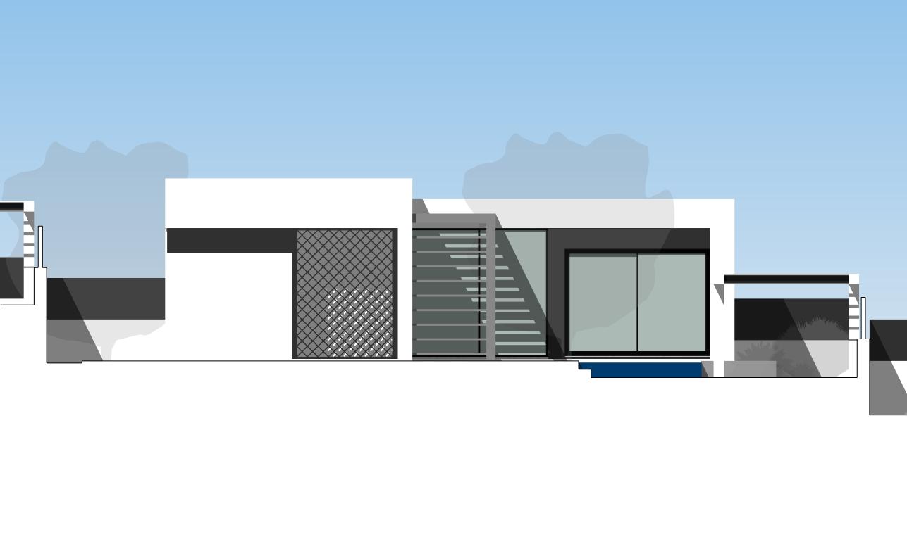 2021-02-09_Torrealquería P8 – Viviendas aisladas y pareadas alzados – Sección – Alzado Oeste