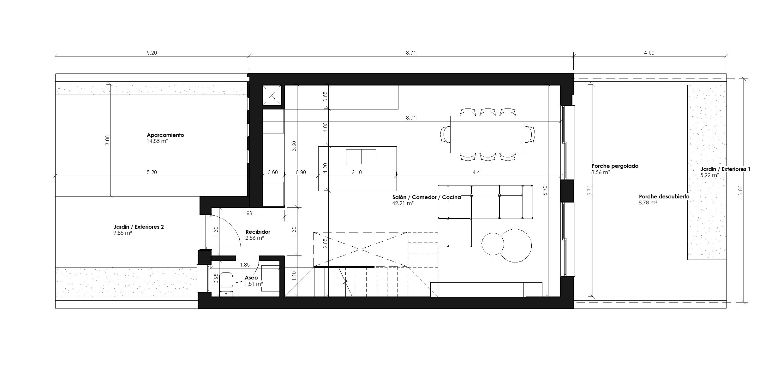 2021-01-14_Torrealqueria P9 – Viviendas adosadas – Plano – 02 – Tipo-Planta Baja